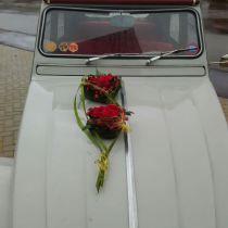 Autoschmuck Goldene Hochzeit