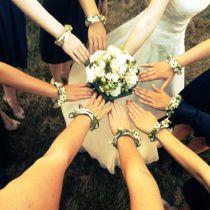 Brautstrauß Blumenarmband